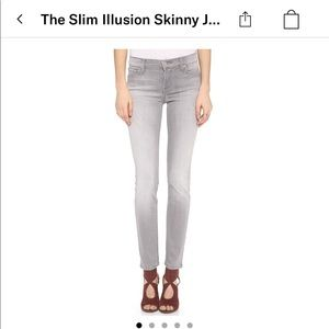 7 for all Mankind slim illusion skinny jeans; gray